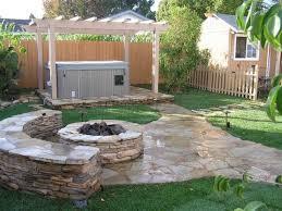 natural elegant backyard design with stone garden glugu
