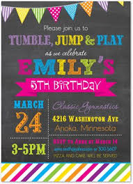 birthday party invitations party invitation cards gymnastics birthday party invitations