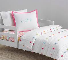 Pottery Barn Alessandra Duvet Bright Pom Pom Toddler Bedding Pottery Barn Kids Organic C U0027s