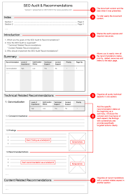 simple internal audit report template example with general