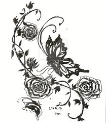tattoo design rose and vine by darkness melody on deviantart