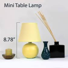simple designs mini ceramic globe table lamp walmart com