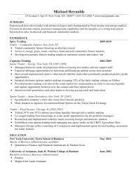 fixed income trader resume sample prop trader cv sample