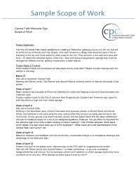 Certification Of Employment Letter Exle Construction Scope Of Work Template 2 Free Templates In Pdf
