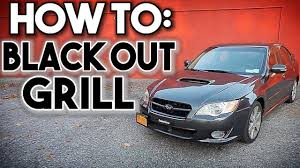 subaru black legacy subaru legacy gt build episode 1 how to black out your grill