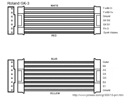 roland gk 2 gk 2a and gk 3 13 pin wiring diagram