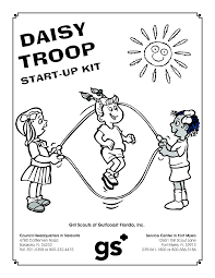 astonishing scout daisy coloring pages printable