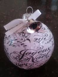 glass ornament with punched decoupaged by minkcouture on etsy