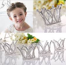 flower girl accessories kids glitter rhinestone twinkle princess crown tiara