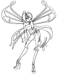 Club Believix Coloring Pages Winx Club Musa Coloring Pages