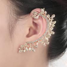 gold ear cuffs 1 pcs ear cuff women jewelry korean new gold plated lea