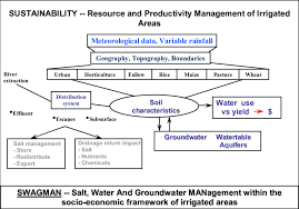 The Location Of The Water Table Is Subject To Change Conceptual Framework Of The Irrigated Region Subject To Developing