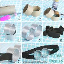 diy goggles perfect craft for a party cut all the toilet paper