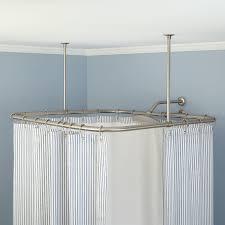 Bath Shower Curtain Rail Ceiling Hung Curtain Poles Ideas Windows Curtains