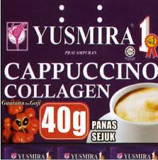 yusmira kopi cappucino collagen 20 sachet