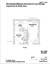 workstation medical records u0026 x ray storage equipment u0026 utility plan