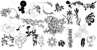 flower ornaments design elements vector 123freevectors