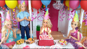 barbie birthday party routine in hello dream house باربي عيد ميلاد