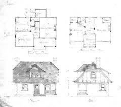 cottage first u0026 second floor plan front u0026 side biltmore village nc