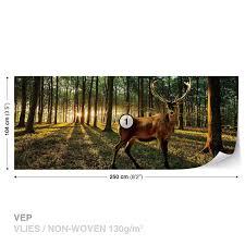 wall mural photo wallpaper xxl deer forest trees nature 3194ws wall mural photo wallpaper xxl deer forest trees