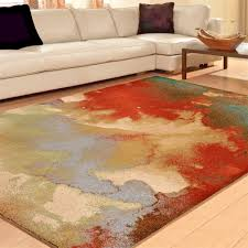 Orange Modern Rug Rugs Area Rugs 8x10 Area Rug 5x7 Carpet Modern Rugs Abstract Orian
