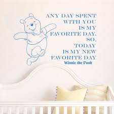 creative winnie the pooh happy home decoration baby quote wall