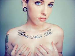 chest tattoos on the arts