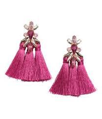 purple earrings earrings with tassels purple sale h m us