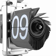 clock vintage retro modern single scale digital stand auto flip