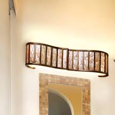 Bathroom Vanity Lights Bronze by Affinity Sustainable Shell Two Bath Light In New Bronze Modern