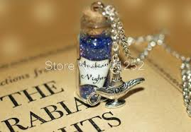 bottle necklace aliexpress images 12pcs arabian nights necklace aladdin mystical power glass bottle jpg