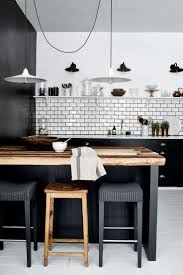 modern black and white kitchen black and white kitchens home furniture and design ideas