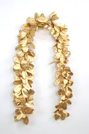 garland 96 gold laurel leaf garland free shipping in