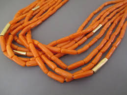 gold orange necklace images Coral 14kt gold necklace native american gold coral necklace jpg
