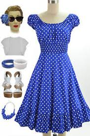 50s style blue u0026 white polka dot plus size peasant top on off the