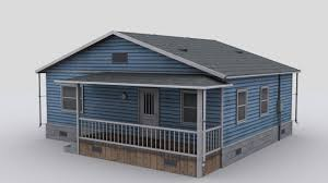 small wooden house 3d asset cgtrader