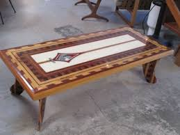handmade coffee table handmade infinity surfboard coffee table