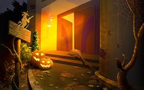 halloween theme wallpaper trick u0027r treat wallpapers group 72