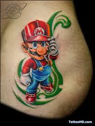 cartoon tattoos for women mario tattoo love