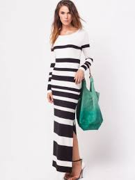 buy column stripe maxi dress for women women u0027s black white maxi