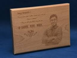 Engraved Wooden Gifts Personalized Engraved Wooden Photo Plaques In India Printing On
