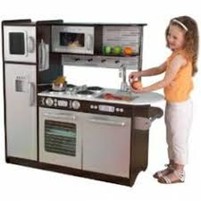 Kitchen Play Accessories - modern and retro wood play kitchens for toddlers compact wood