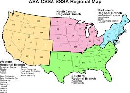 map us and canada branches and chapters american society of agronomy