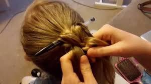hair plait with chopstick plait over pen quick hair up youtube