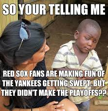 Funny Red Sox Memes - skeptical black kid memes quickmeme