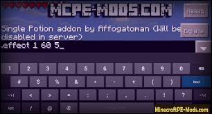 Minecraft Blindness Potion Single Potion Addon For Minecraft Pe 1 2 5 1 2 3 1 2 0 Download