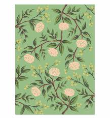 botanical wrapping paper emerald peonies wrapping sheets by rifle paper co made in usa