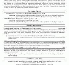 Computer Technician Resume Template Electronic Repair Technician Resume Hvac Technician Resume Sample