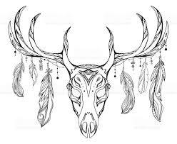 royalty free deer totem pole clip vector images