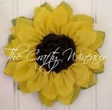 sunflower wreath yellow burlap sunflower wreath the crafty wineaux